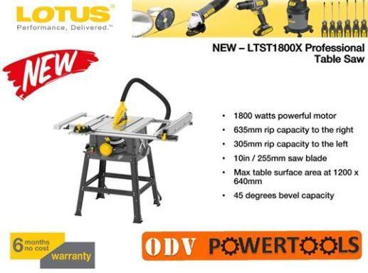 Lotus Table Saw 1800W LTST1800X