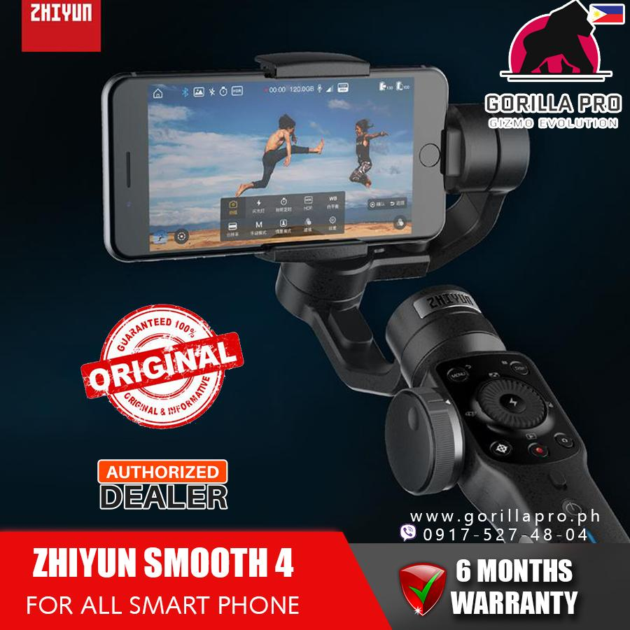 ZHIYUN Official Smooth 4 (Asia Ver.) 3-Axis Handheld Smartphone Gimbal Stabilizer VS Smooth Q Model for iPhone X 8Plus 8 7 6S Samsung S9S8S7