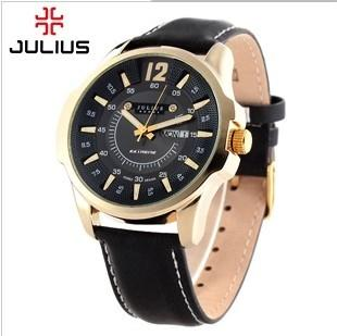 9c35768b2 Product Julius Men Leather watch watches Strap Calendar Korean Style  Fashion Leisure Business Big Dial Students