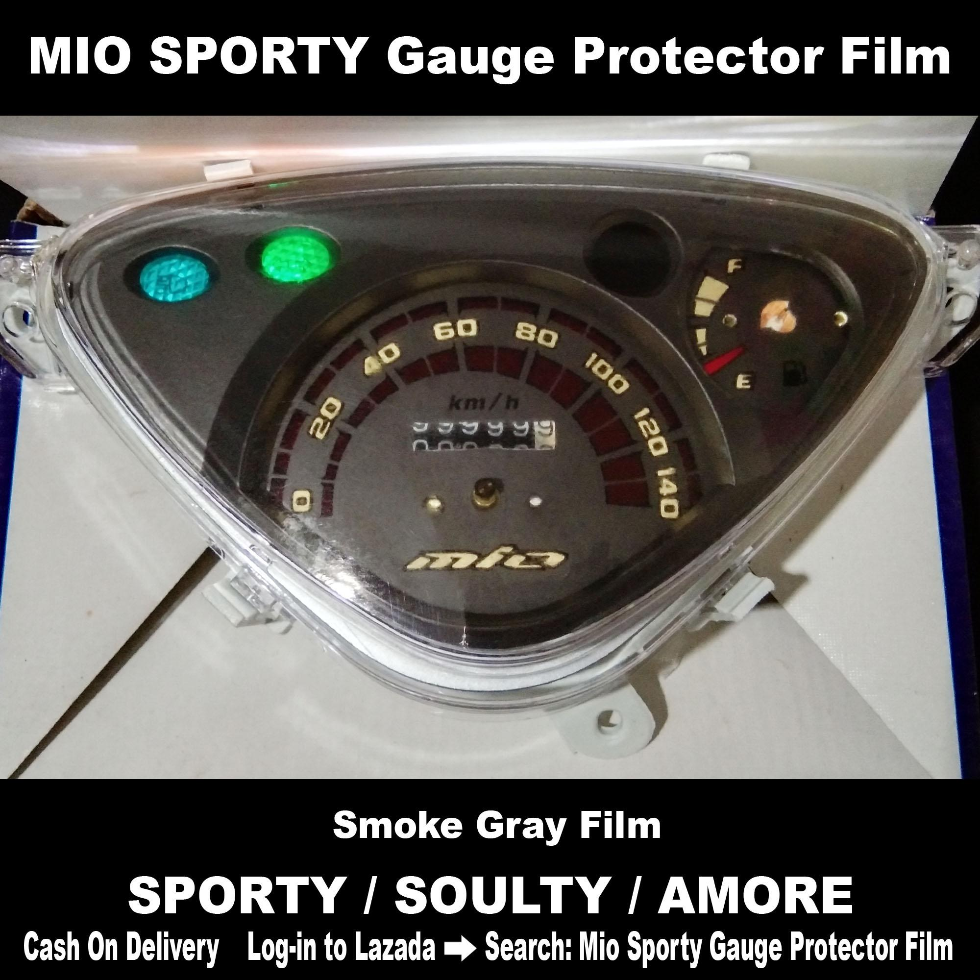Mio Sporty Gauge Protector Smoke Dark Grey