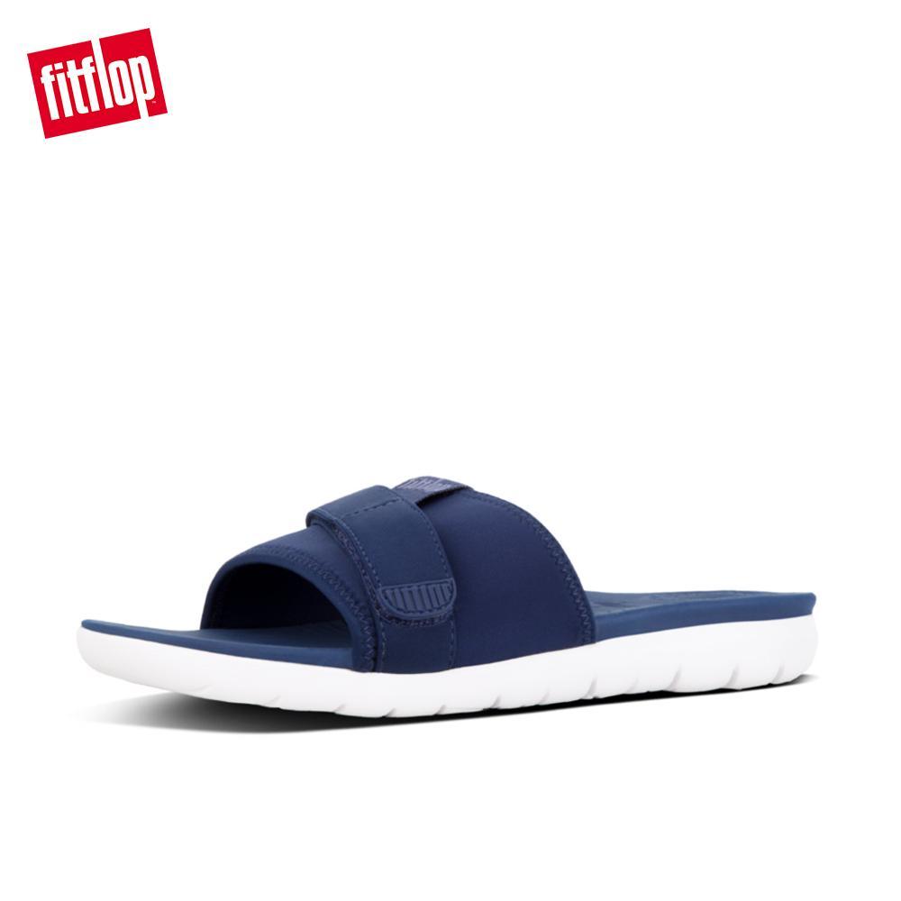 3d96966084ac Fitflop Women s Sandals K68 NEOFLEX SLIDE SANDALS TEXTILE PU ATHLEISURE lightweight  comfort fashion New