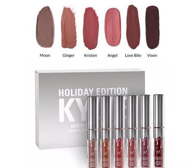 6 PCS set Lady Makeup Waterproof Liquid Llipstick Pop Matte Multicolor Shades Lasting Kylie Lip Tint