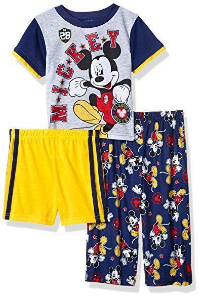 Toddler Boys M-Ickey Mouse 3-Piece Pajama Set Big Discounts! By Discount Store.