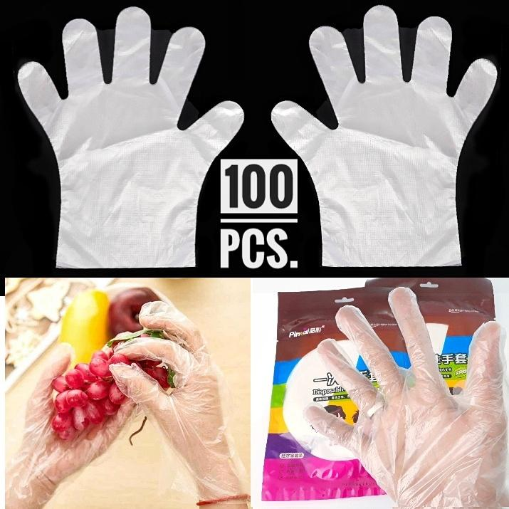 Thick High-quality Anti-bacteria Disposable Gloves Gloves Hair Health Hot Oil 100 Or 50 With Wholesale Attractive Appearance Household Gloves Household Cleaning