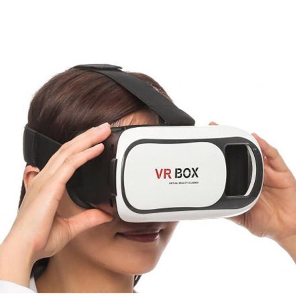 9a955cc23149 VR Box 3D Virtual Reality Glasses White