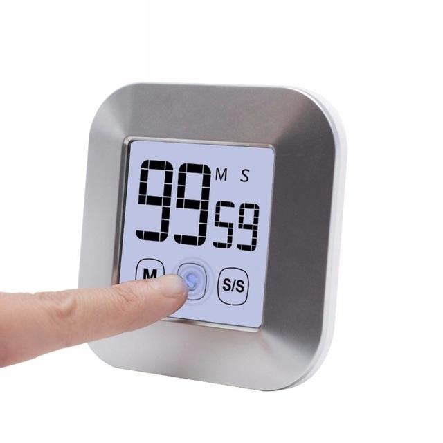 Touchscreen Lcd Digital Kitchen Timer Practical Cooking Timer Countdown Count Up Alarm Clock Kitchen By Avana.ph.