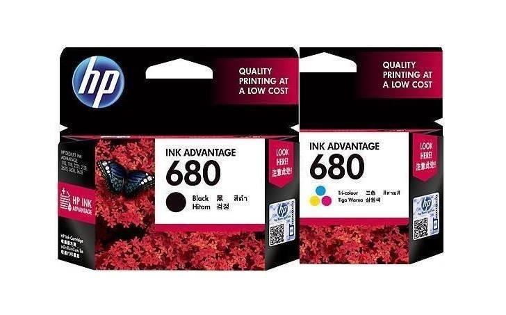 Hp 680 Black And Tri-Color Original Ink Advantage Combo Bundle Set By Kyrie Ink Trading.