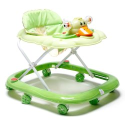 Cutie Baby First Steps Baby Walker with Safety Bump Guard(Green)