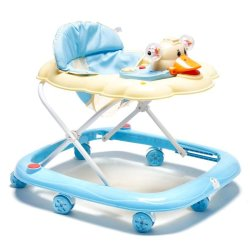 Cutie Baby First Steps Baby Walker with Safety Bump Guard (Blue)
