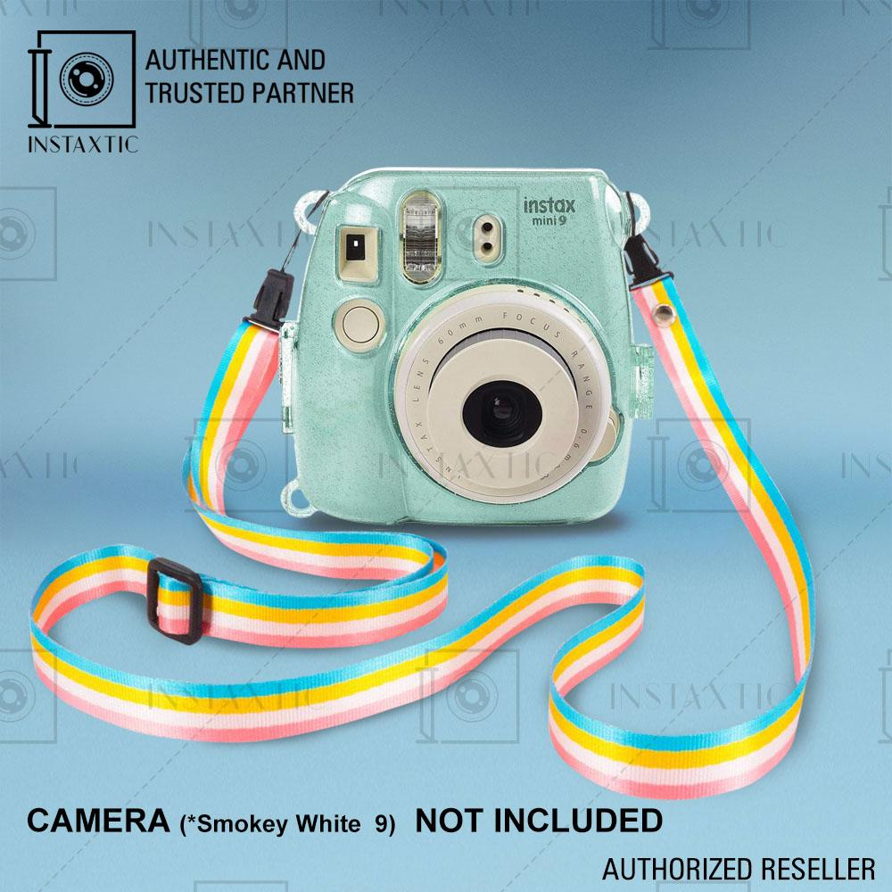 Instaxtic Clear Plastic Case With Sling Strap For Fujifilm Instax Mini 8 / Mini 8+ / Mini 9 By Instaxtic.