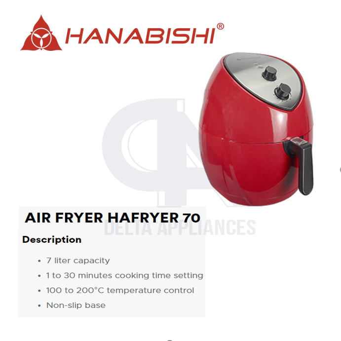 Hanabishi HAFRYER 70 7L Air Fryer | Lazada PH