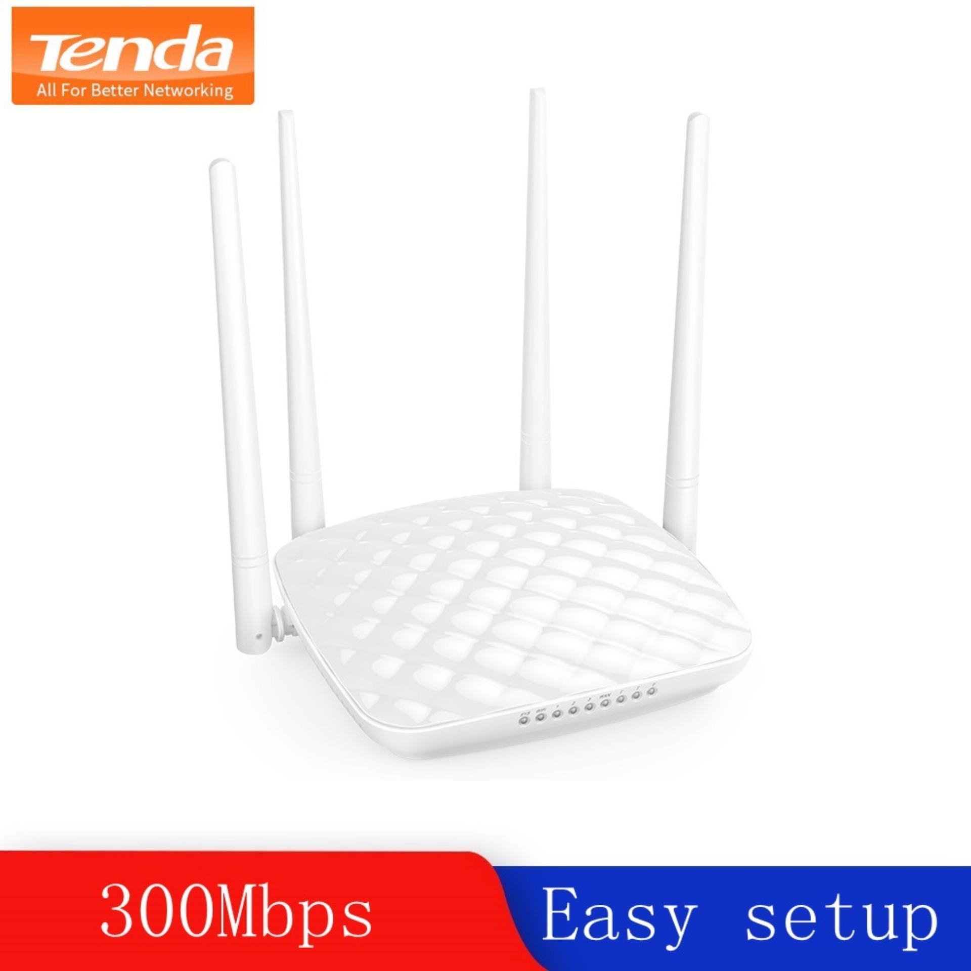 Tenda Router FH456 wifi wireless router Mutli Language fiber optic router  intelligent household 4 wifi aerial 300m easy setup
