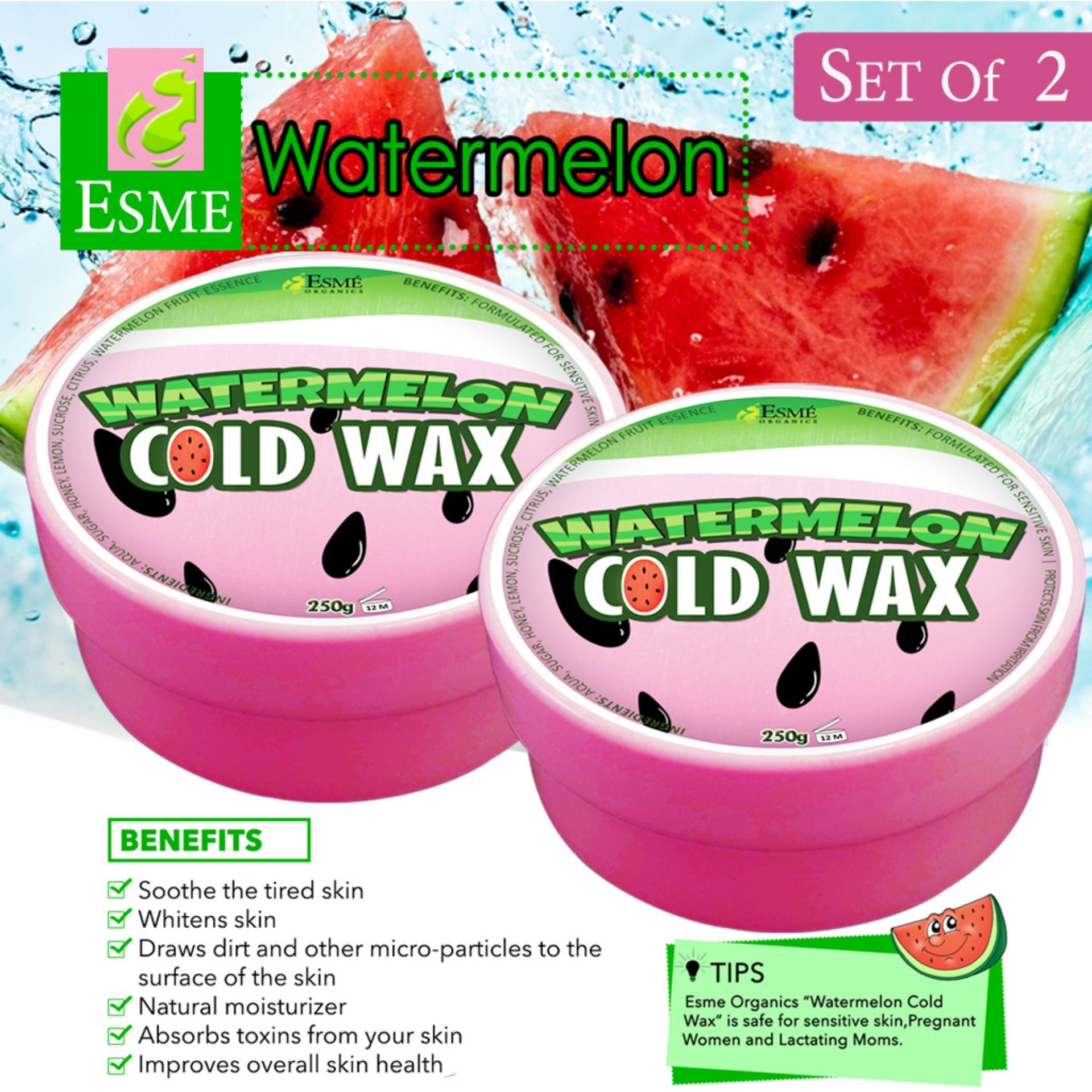 Esme Organic Cold Wax Hair Removal 250g (set Of 2) Watermelon By Lowest Price Guaranteed.