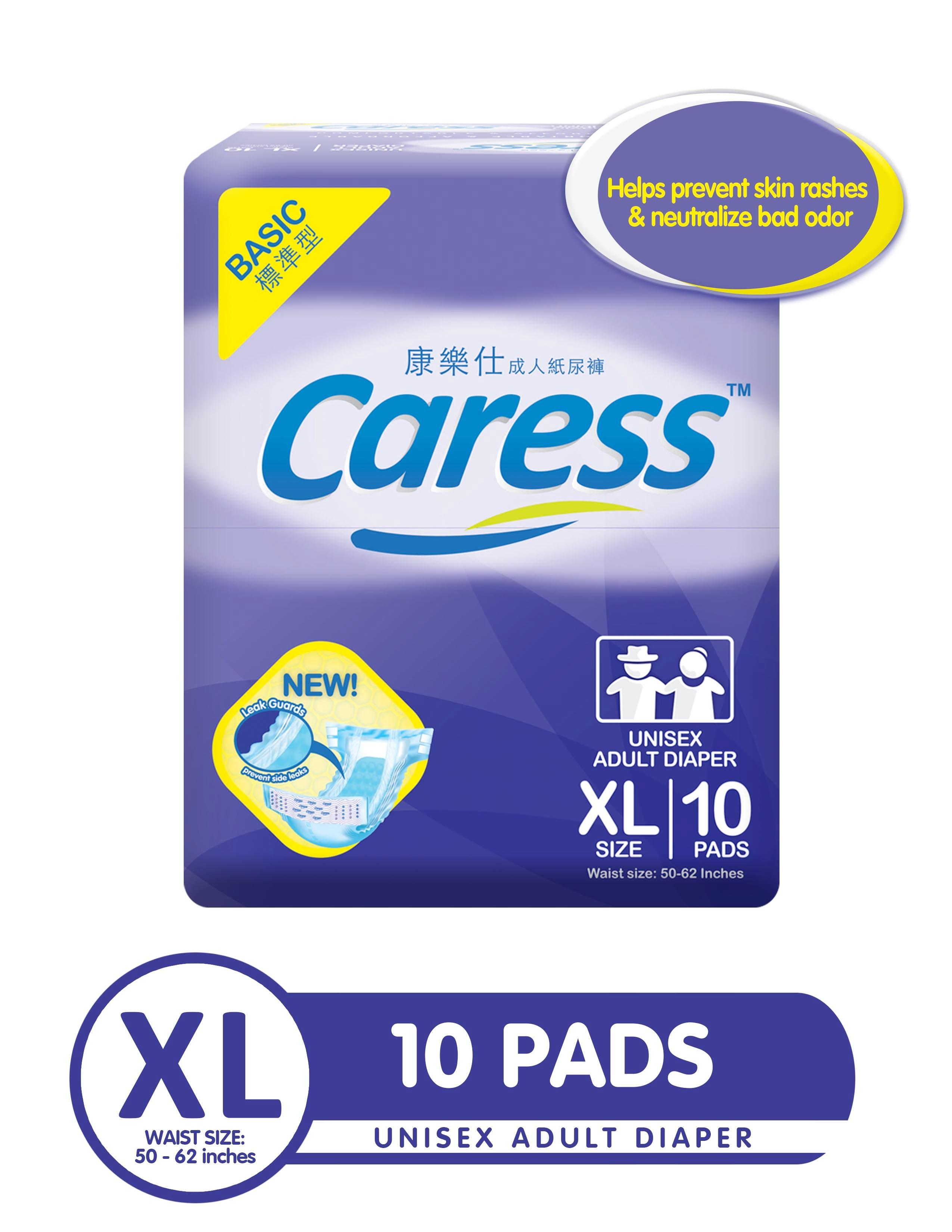 Caress Basic Adult Diaper XLarge: 1 pack of 10 pads