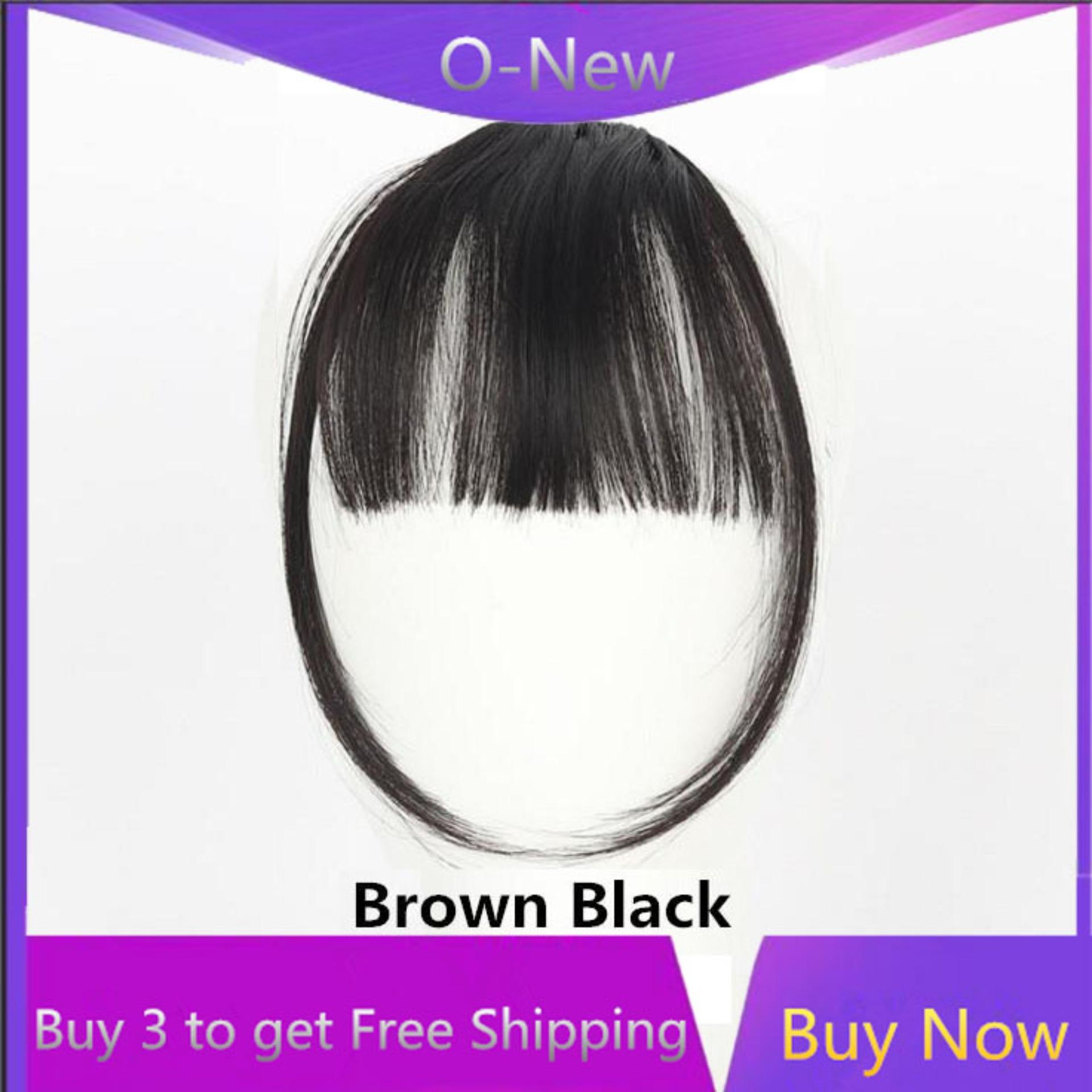 b2641f885f530 O-New Women Bangs Wig Hair Extension Fringe Hairpieces Hair Clips Front  Neat Bang