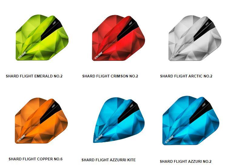 Emerald 5 New Sets Target Shard Ultra Chrome Standard Dart Flights