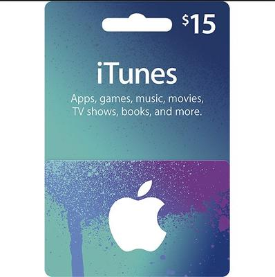 $15 US App Store & iTunes Gift Card - Fast E-mail Delivery