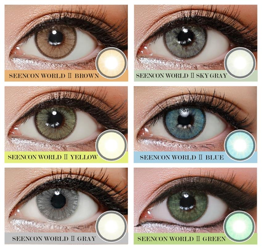 f391ba4082e Taoqihou Solotica Hydrocharme Seencon World II Contact Lens Natural Look