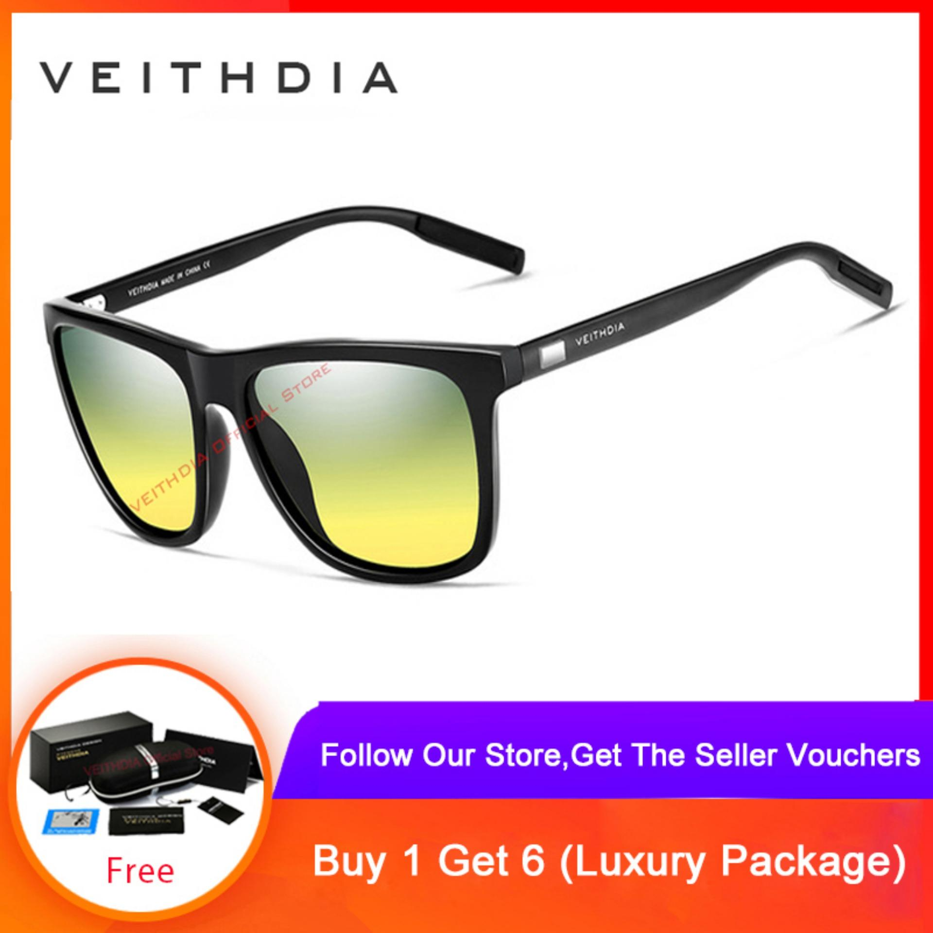 286133cb2e5cb VEITHDIA Unisex Aluminum+TR90 Sunglasses Polarized Lens Vintage Eyewear  Accessories Sun Glasses For Men
