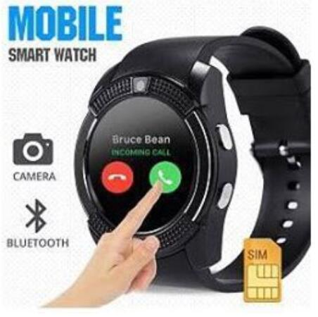 Cod V8 Smart Watch Clock With Sim Tf Card Slot Bluetooth By Wells Trading.