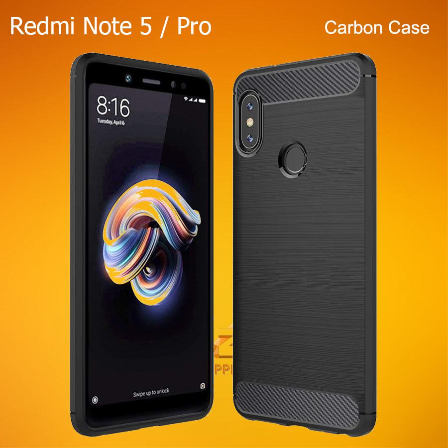 Xiaomi Redmi Note 5 Ai / Pro Carbon Fiber Brushed Soft TPU Rugged Case