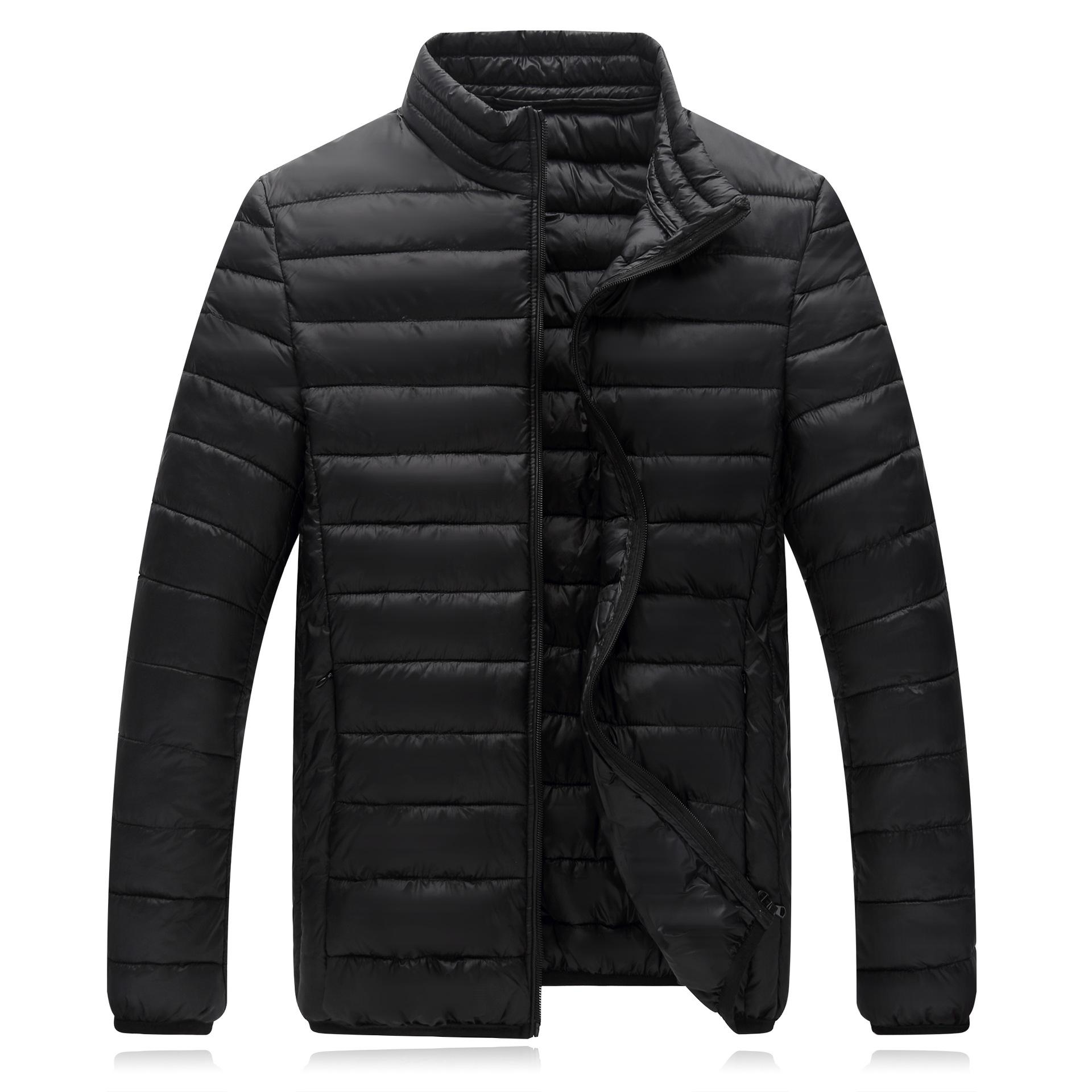 0dfa344ea9aa New Style Light Warm down Jacket Cotton-padded Clothes Men Stand Collar  Large Size Youth