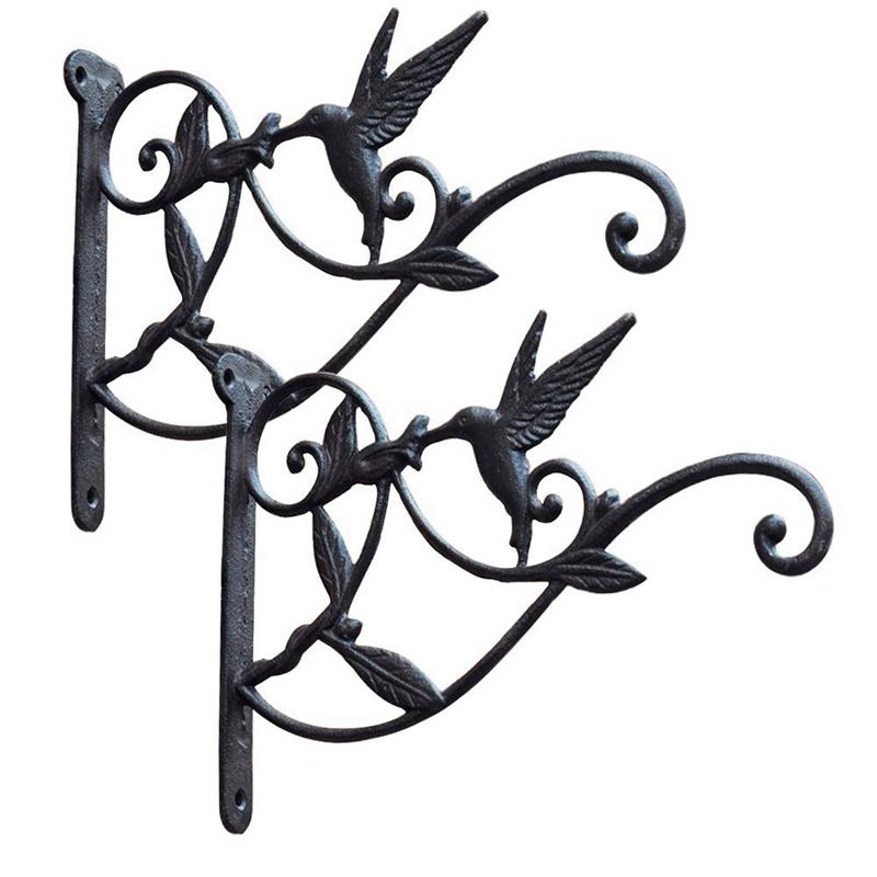 Cast Iron Plant Hooks Vintage Wall Hanging Brackets for Lanterns,Planters,Flower Pot Baskets,Wind Chimes,Wind Spinners,Bird Feeders,Garden Patio Lawn Indoor Outdoor Decor