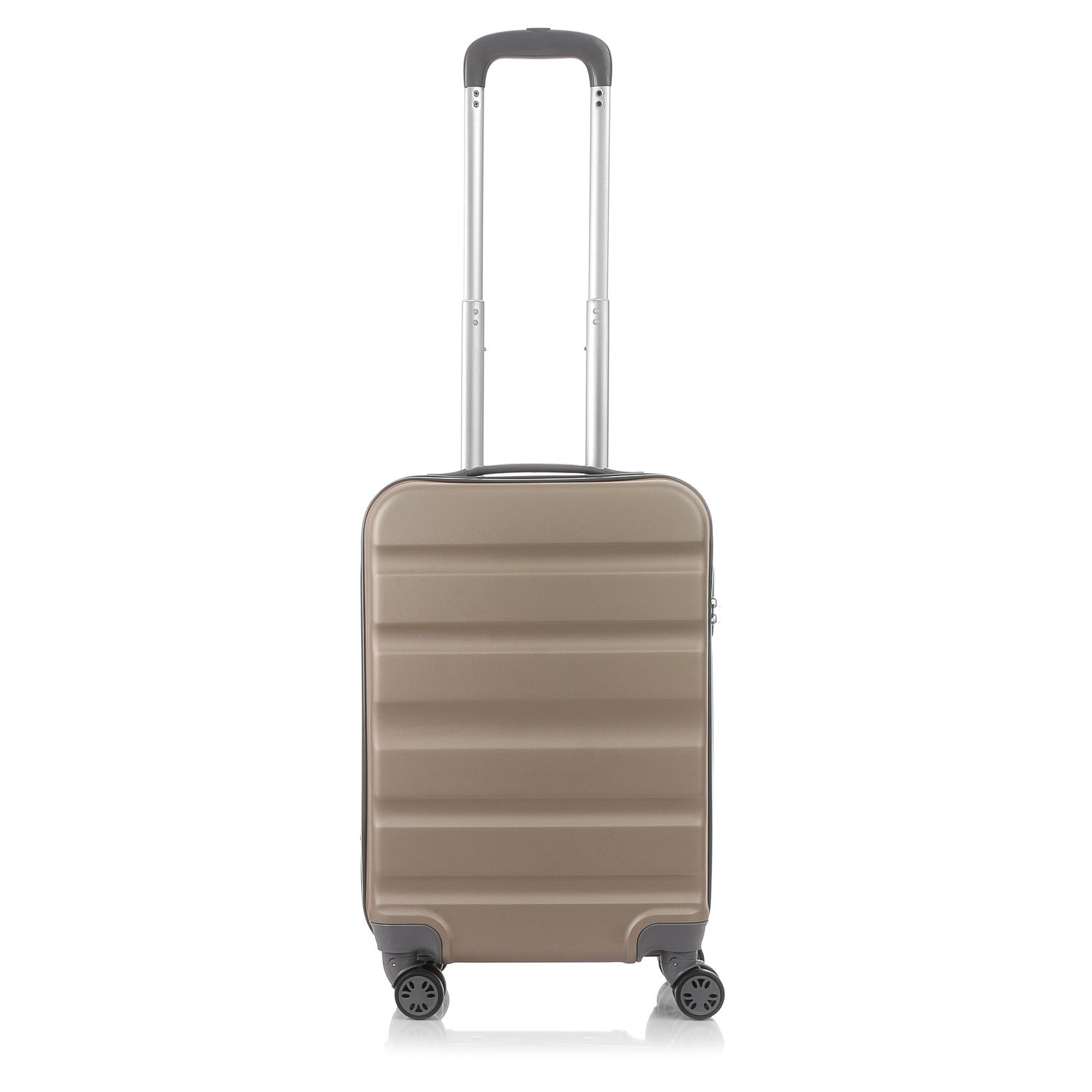 a25131defc3 Travel Basic Ciao Clyde Small Hard Case Luggage in Champagne