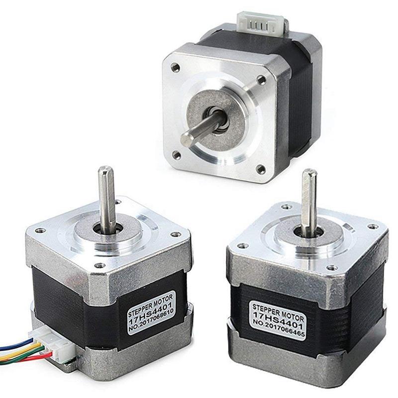 Stepper Motor 17, 3 Pcs 17 Stepper Motor 4-Lead 1.8 Deg 40N.Cm Holding Torque 1.7A 42 Motor for 3D Printer Hobby Cnc Router