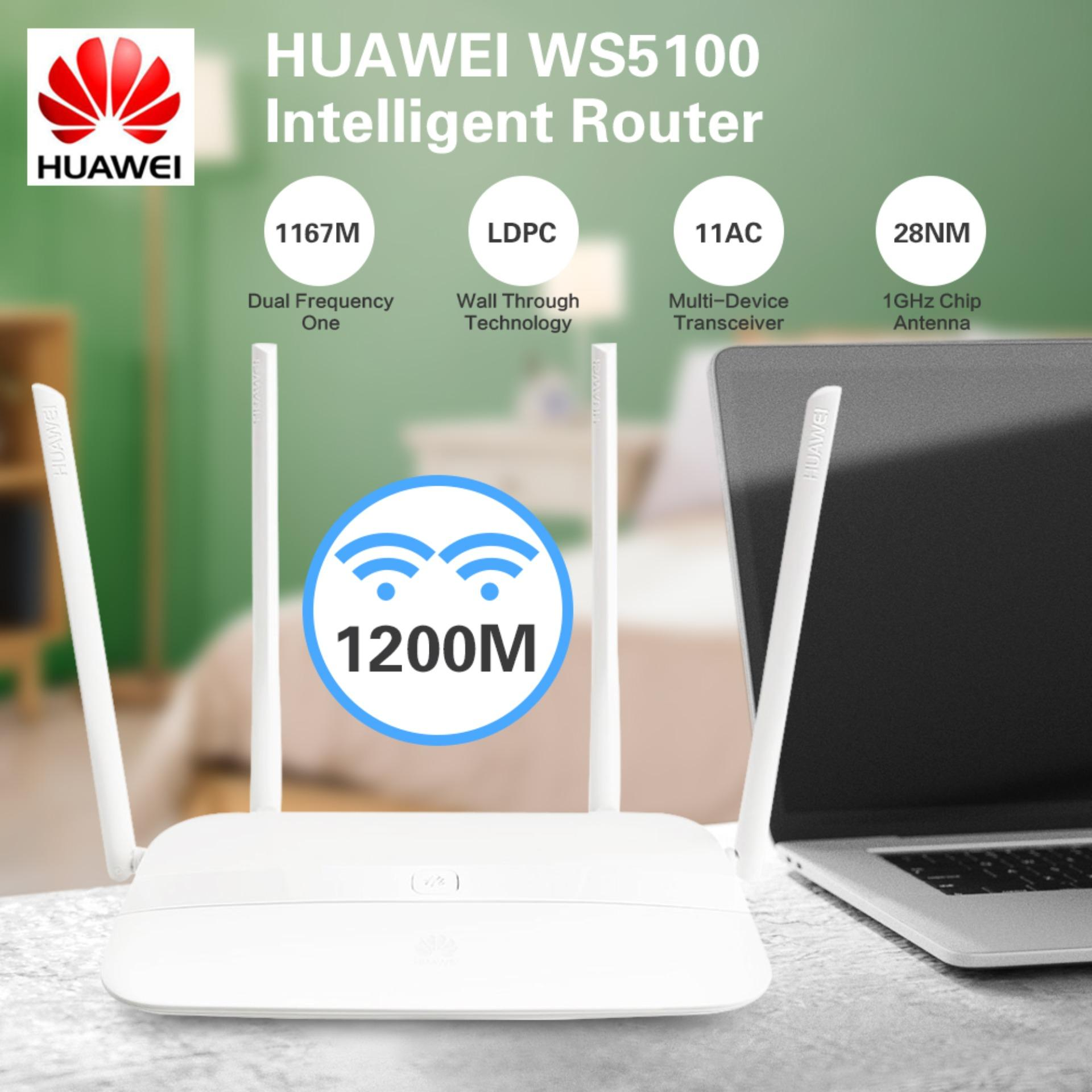 HUAWEI WS5100 Dual Band WiFi AC1200M Intelligent Router 5G Priority Support  IPv6