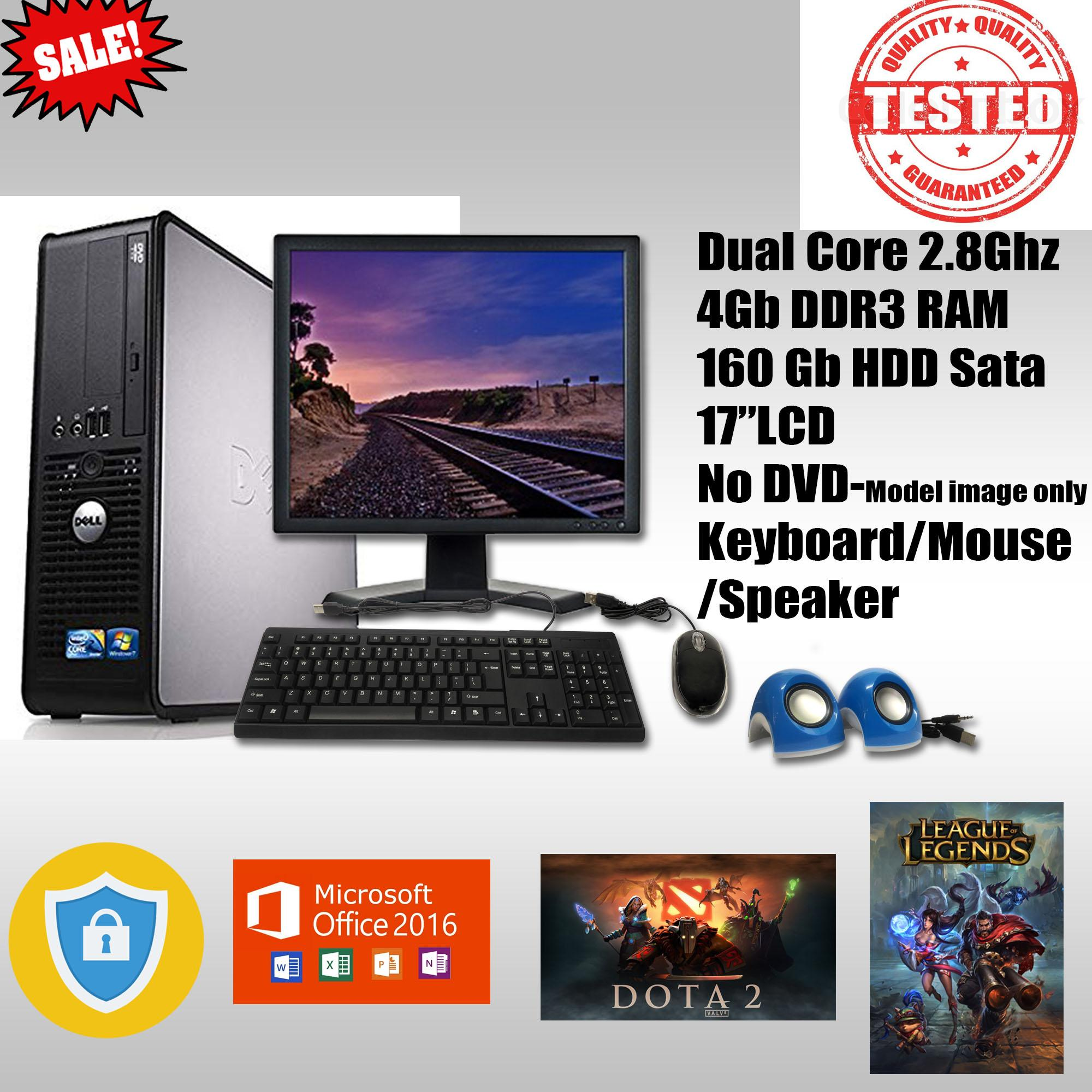 Computer set Dell 780 Dual Core 2 8-3 0Ghz Best for office and Internet  (Seller Refurbished)