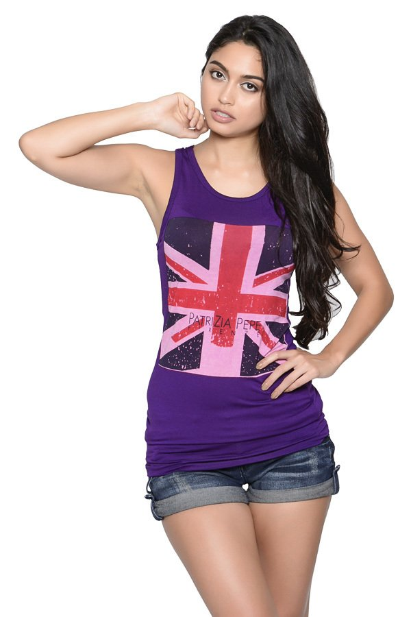 Weiying 8840 Multi-Way Sleeveless Tunic (Violet)