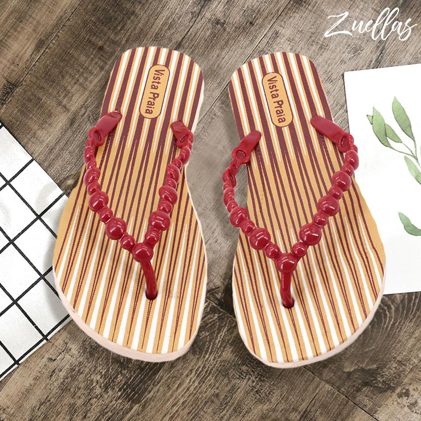 7de55741dec94 Zuellas Women s Katie Summer Flower Collection Flip Flops Slippers Sandals  ...