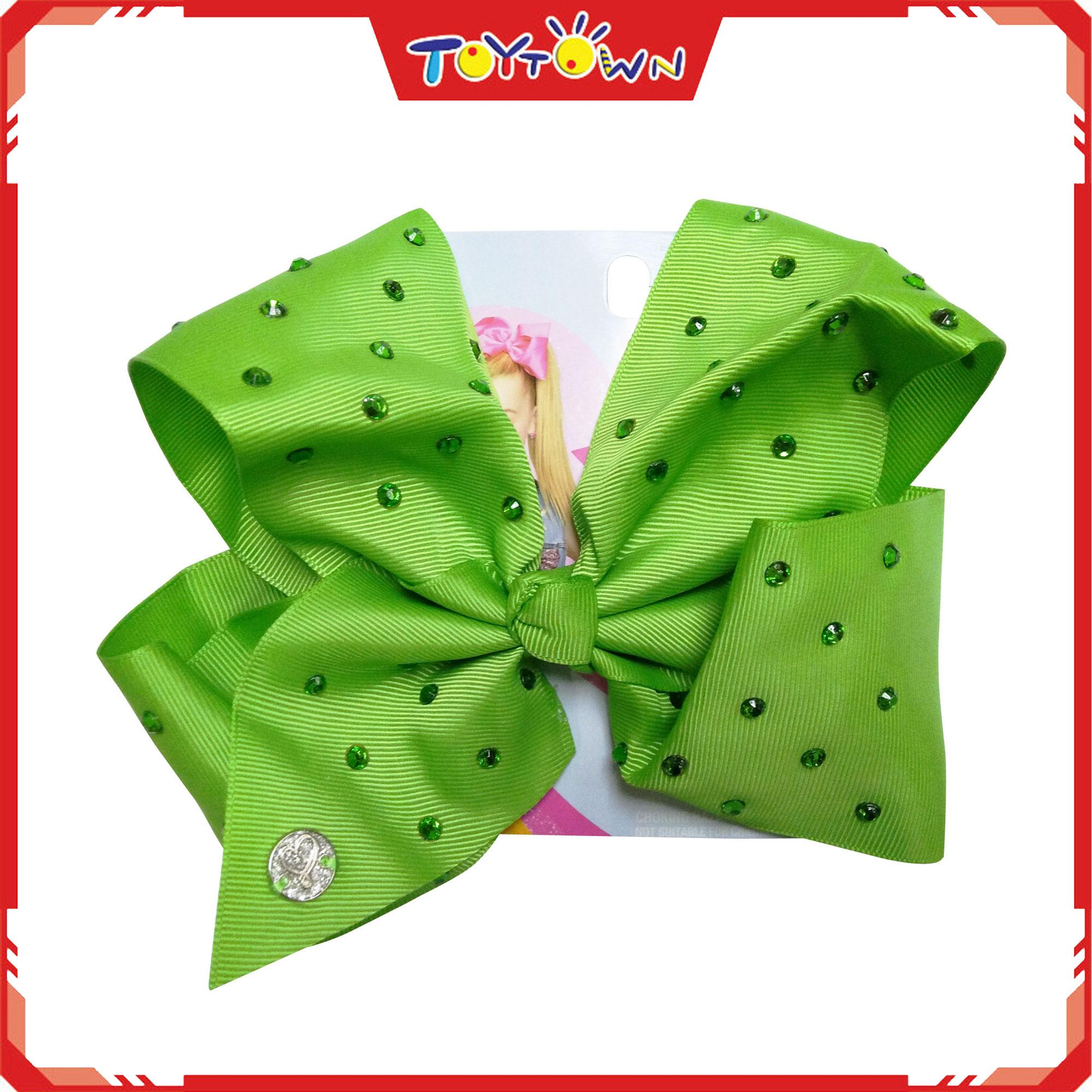 Jojo Siwa Lime Bows With All Over Stones By Toytown 2.
