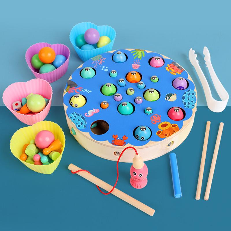 Coupon Khuyến Mãi Children Early Learning Magnetic Fishing Puzzle Clips Beads Training Baby Fine Action Toys