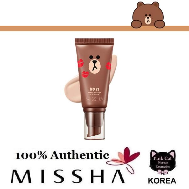 Korean Cosmetics MISSHA M Perfect Cover BB Cream 50ml #21 (LINE FRIENDS  EDITION)