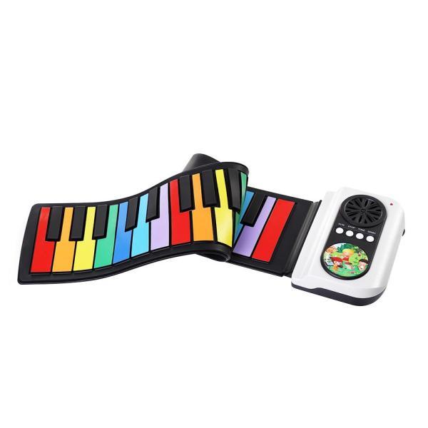 Đàn piano điện tử 37 phím di động, bàn phím điện tử Silicon có nhiều màu sắc, tích hợp loa và đồ chơi âm nhạc cho trẻ em, trẻ em