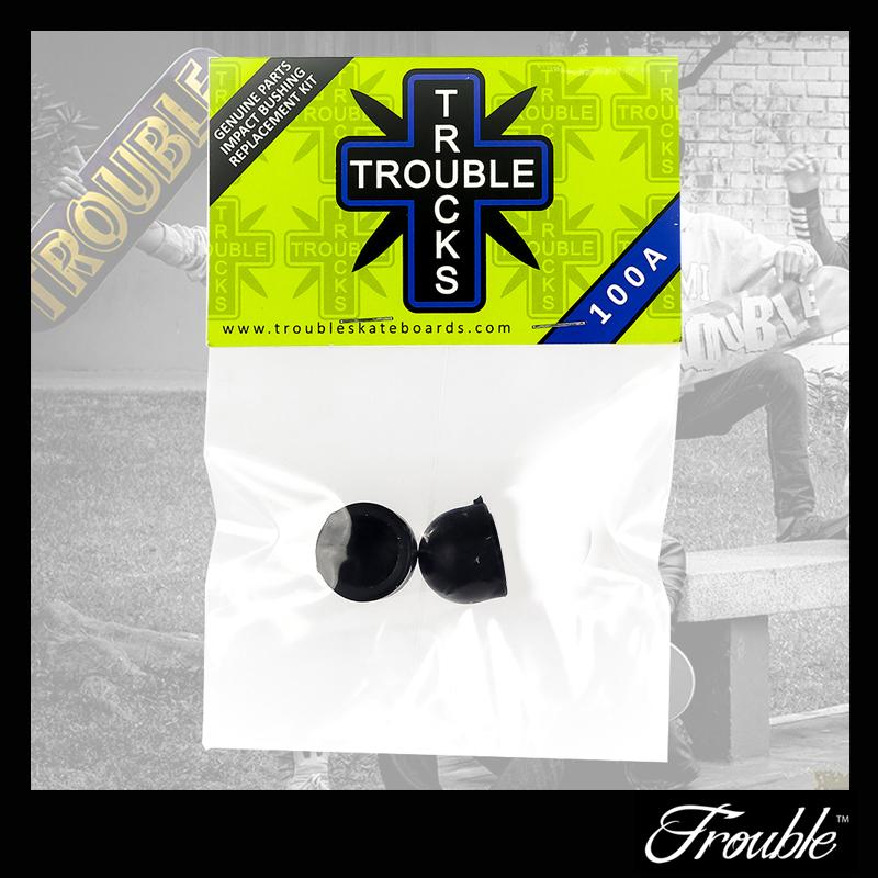 Trouble Skate 2pcs Pivot Cups 100a Hardness Black By Trouble Skate Supply.
