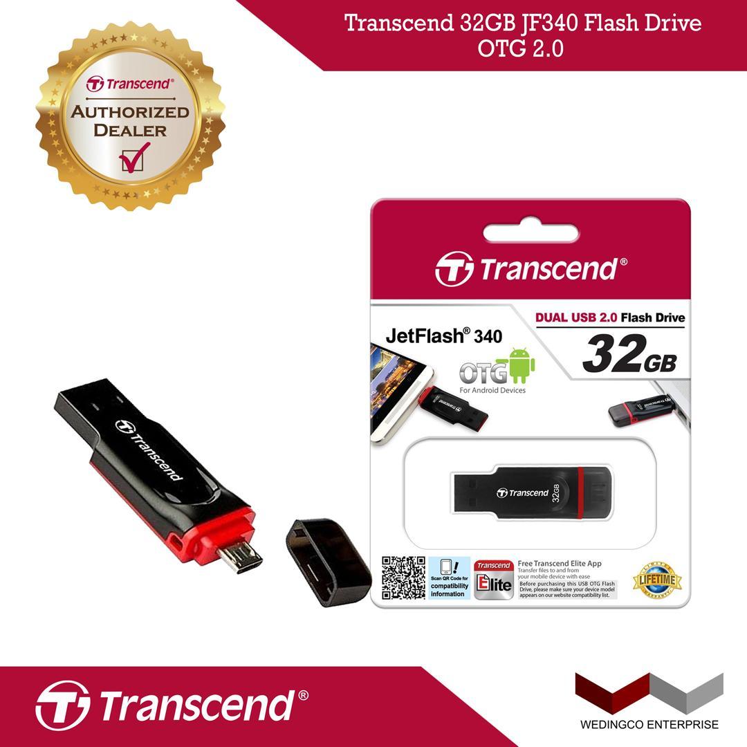 Transcend 32GB JF340 Flash Drive OTG 2.0