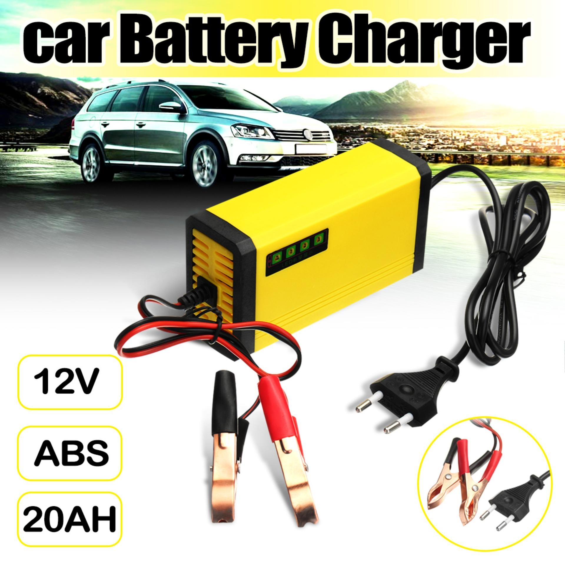 【free Shipping + Super Deal + Support Cash On Delivery】car Battery Charger 12v 2ah-20ah Motorcycle Smart Automatic Maintainer Trickle By Audew.