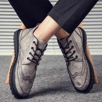 สไตล์อังกฤษรองเท้าผู้ชาย 2019 ฤดูหนาวใหม่รองเท้าแฟชั่นระบายอากาศลำลองรองเท้ารองเท้าหนังผู้ชายชายสไตล์เกาหลีแฟชั่นรองเท้าสำหรับคนขี้เกียจ