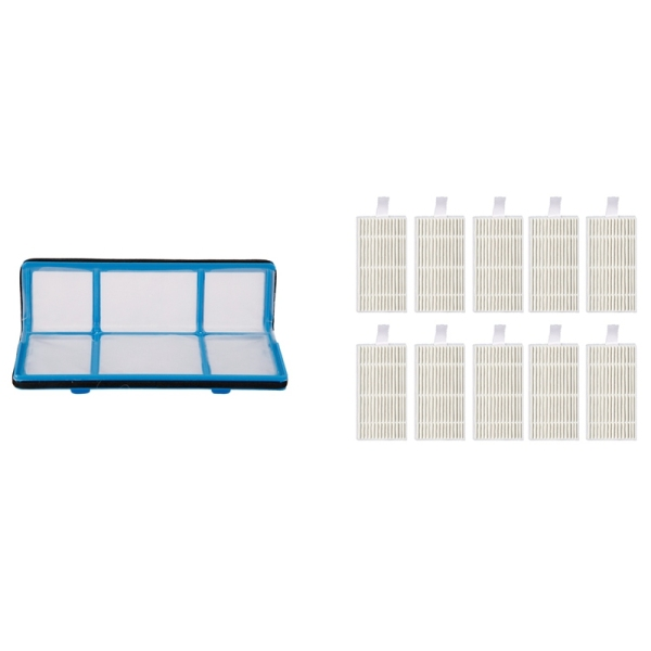 Primary Dust Hepa Filter with 10Pcs Replacement Kits for Ilife