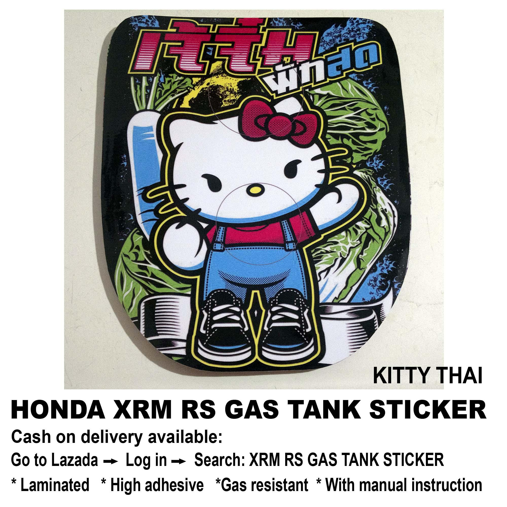 Xrm rs gas tank sticker kitty thai