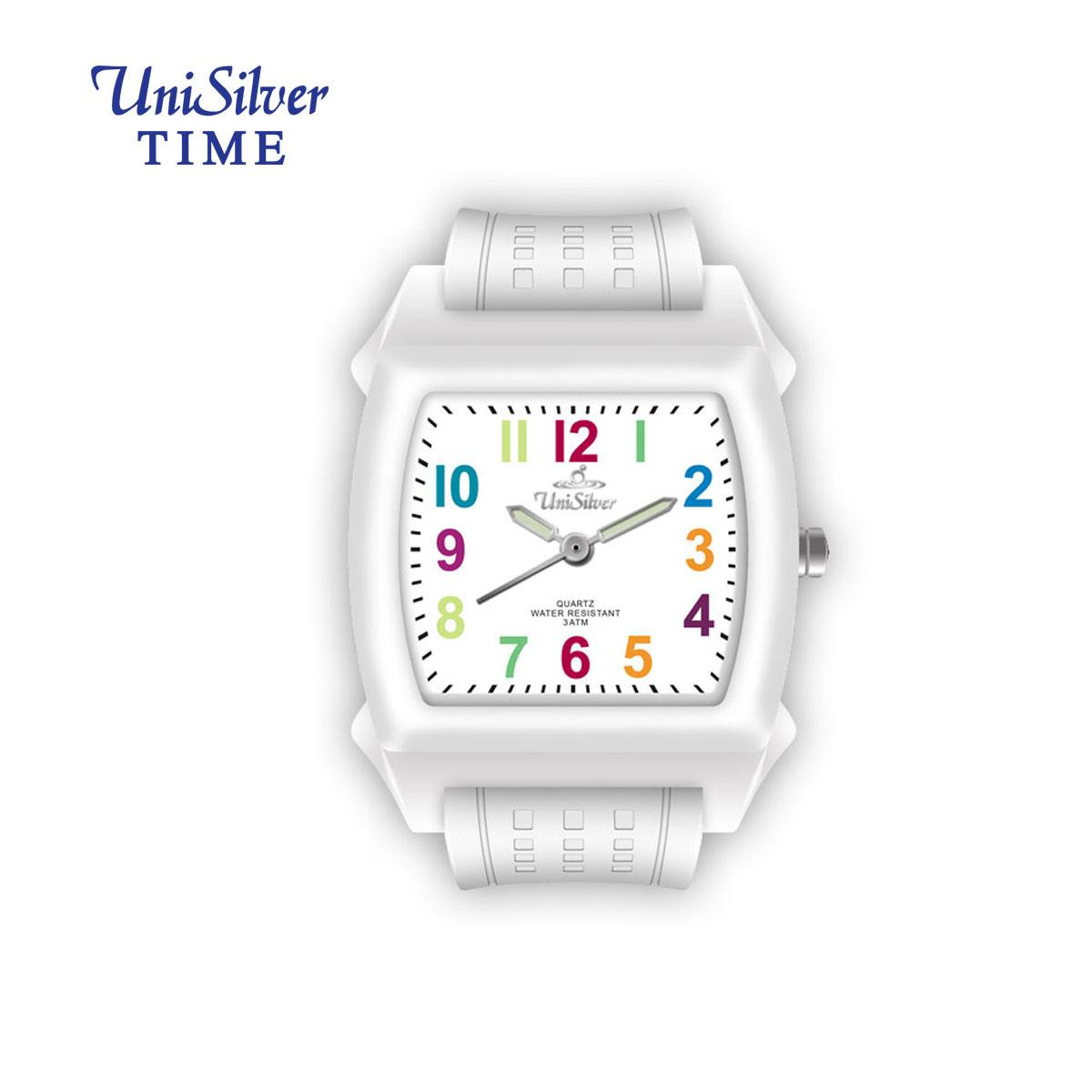 10f6a1a2b UniSilver TIME Colorfun Childrens White / Multicolored Analog Rubber Watch  KW1528-1001 Philippines