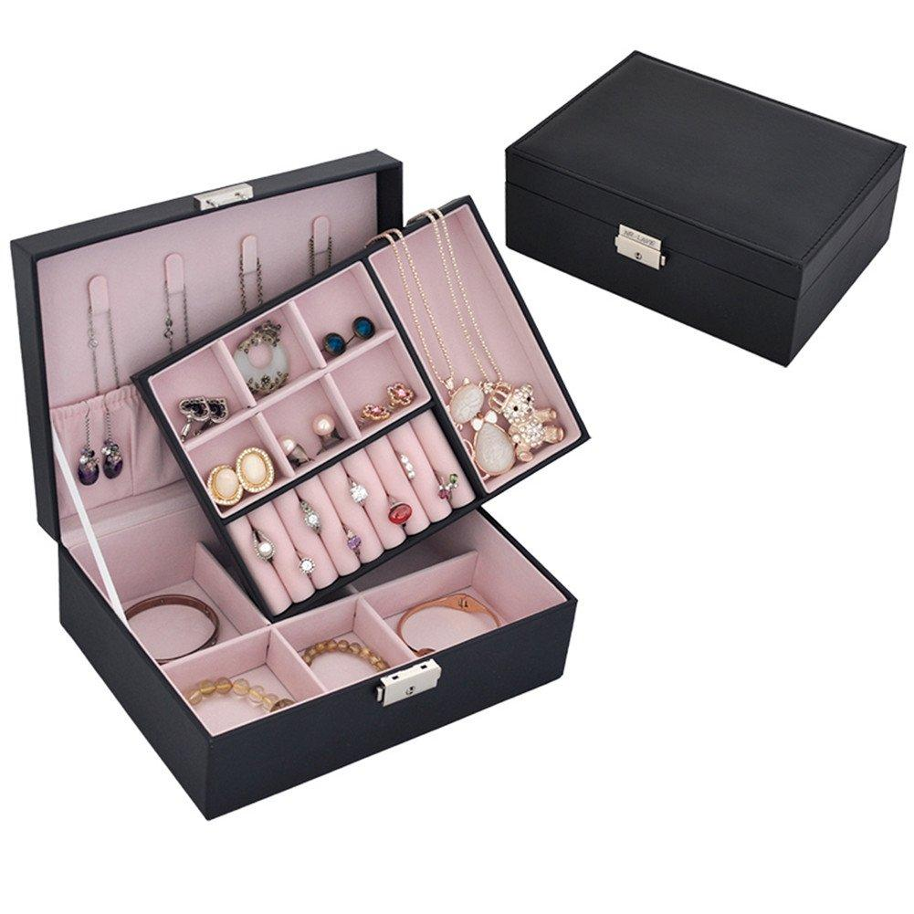 2ce33bde6 BONBON SHOP Jewelry Box Women Jewellery Storage Case Girls Jewelry  Organizer 2 Layer 13 Section Small