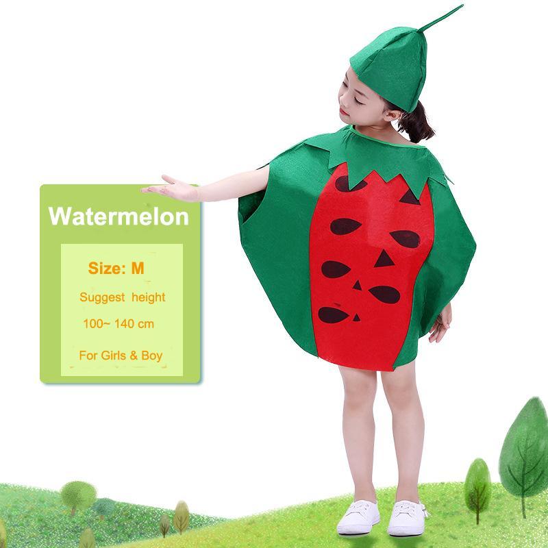 4c59b2837669 Fashion Unisex Children Fancy Dress Cartoon Fruit Vegetable Costume Suits  Party Outfit Boy Girl Performance Clothes