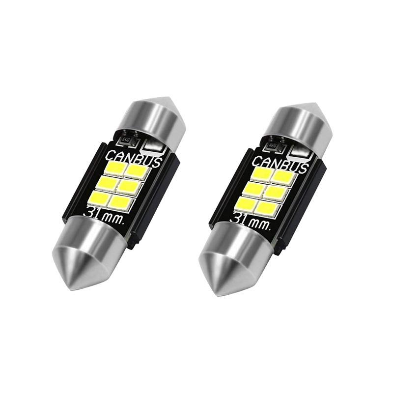 Extremely Bright 400 Lumens 3020 Chipset Canbus Error Free Led Bulbs For Interior Car Lights License Plate Dome Map Door Courtesy 31Mm Festoon De3175 6428 Xenon White