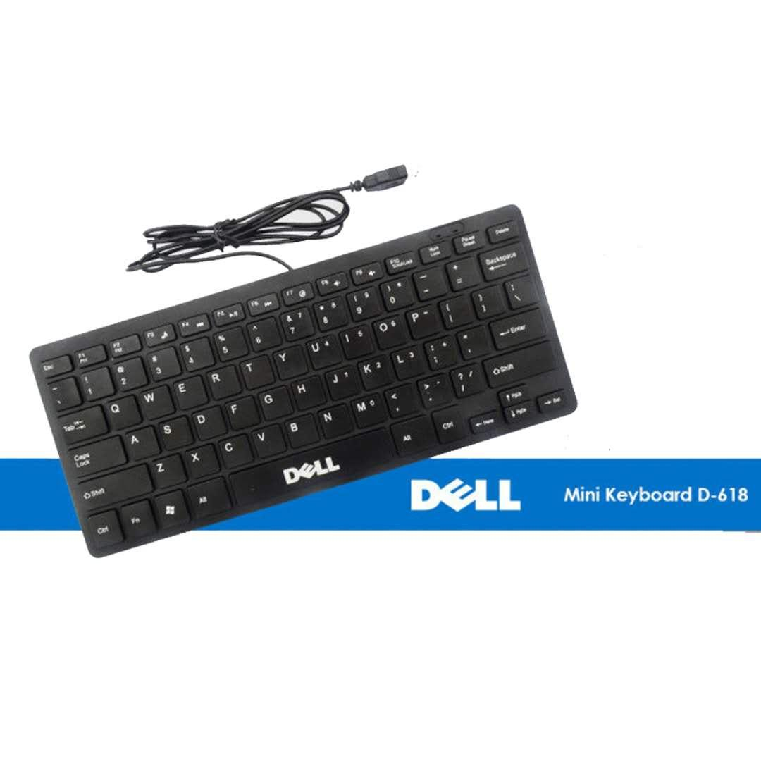 DELL mini USB Keyboard For Universal PC Laptop (Black)
