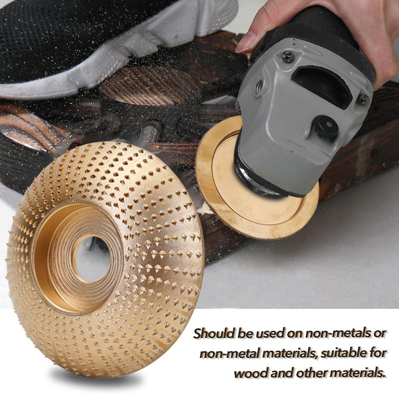 Wood Grinding Wheel Angle Grinder Disc Wood Carving Disc Sanding Abrasive Tool Bore Gold