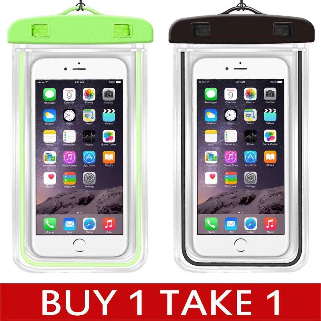 Buy 1 Take 1 Glow in the Dark Water Proof Case Pouch for Mobile Phone Underwater